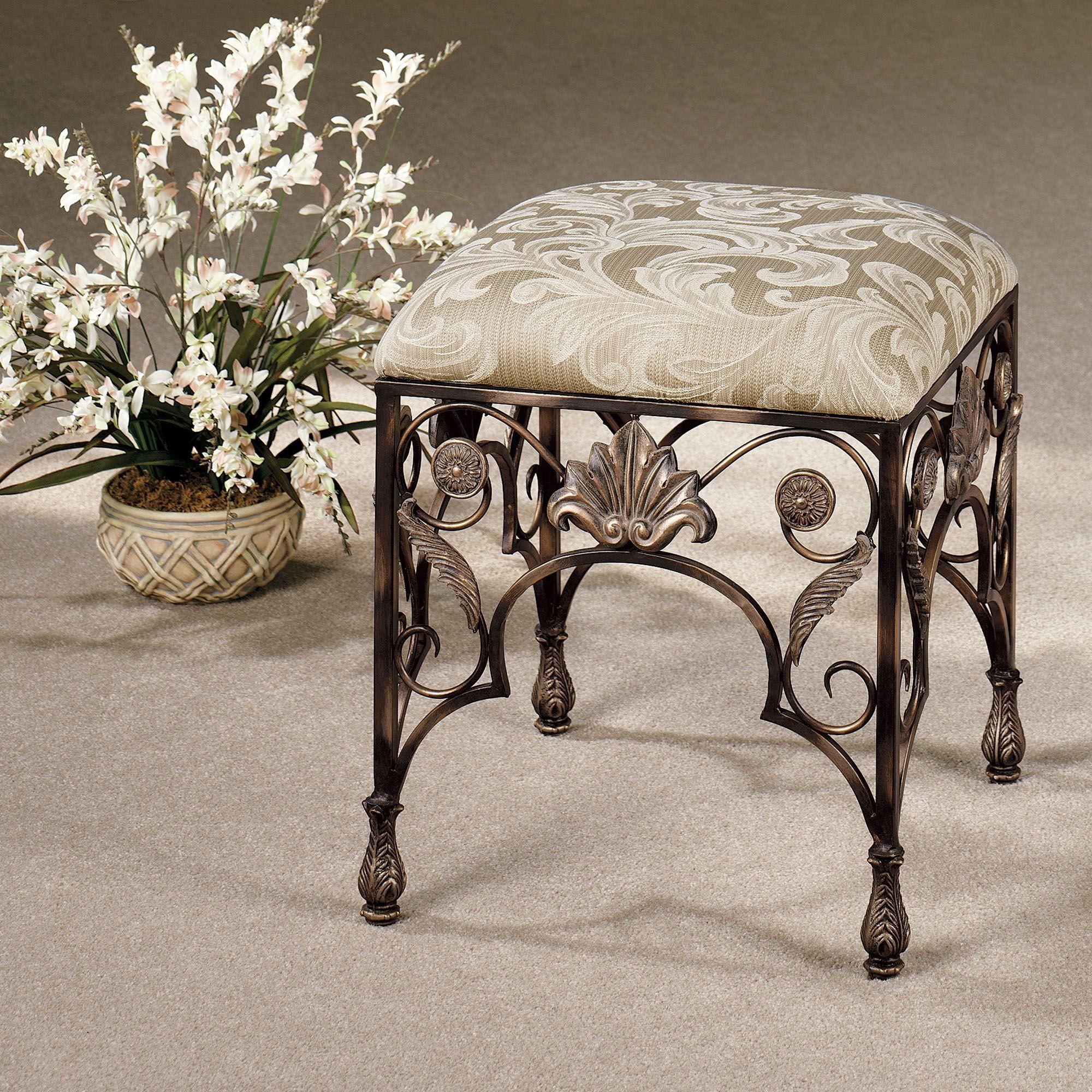 Raina Upholstered Vanity Stool