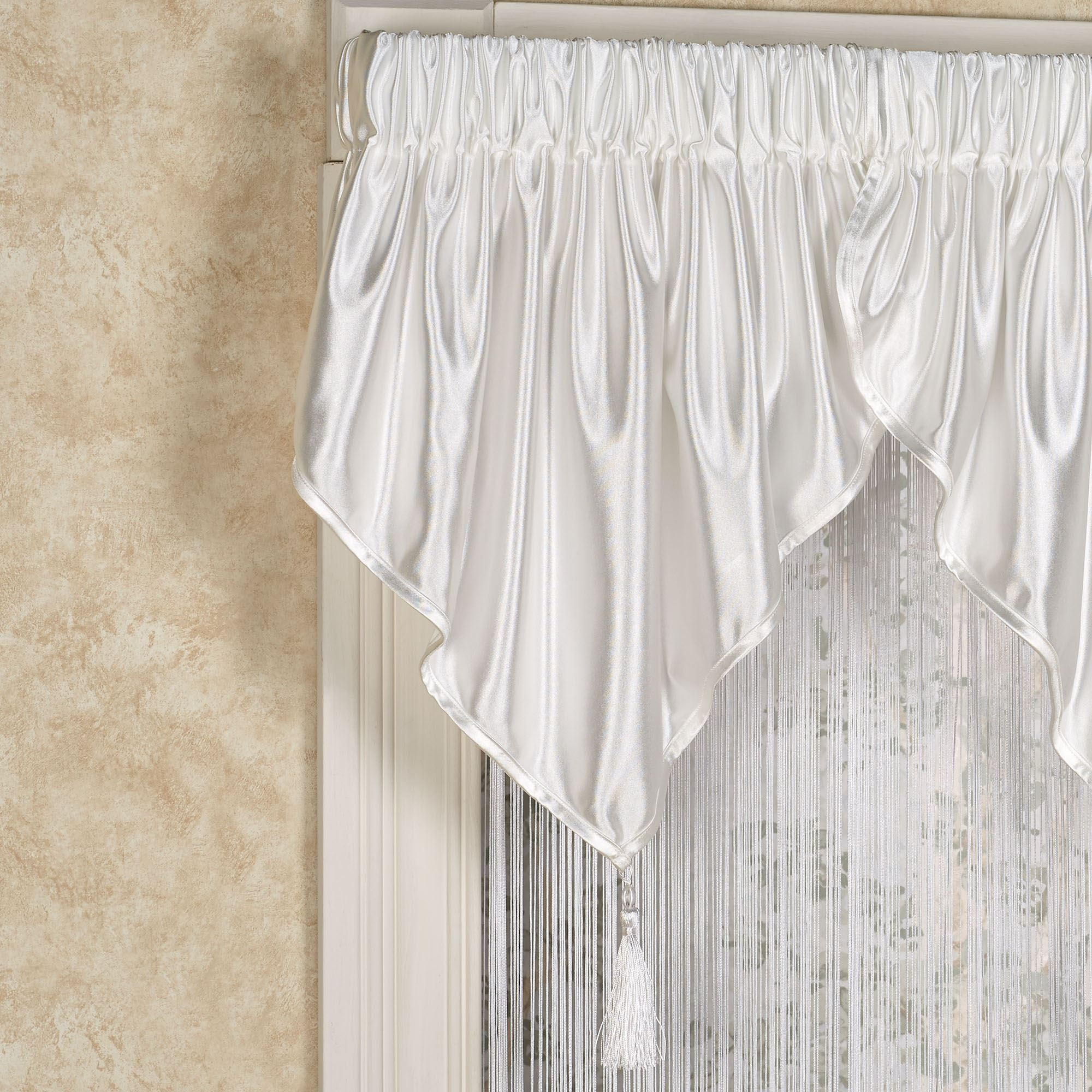 Shimmer Satin Ascot Valance Window Treatment
