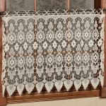 Medallion Macrame Lace Tier Window Treatment