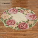 Rose Nouveau Sculpted Floral Round Rugs
