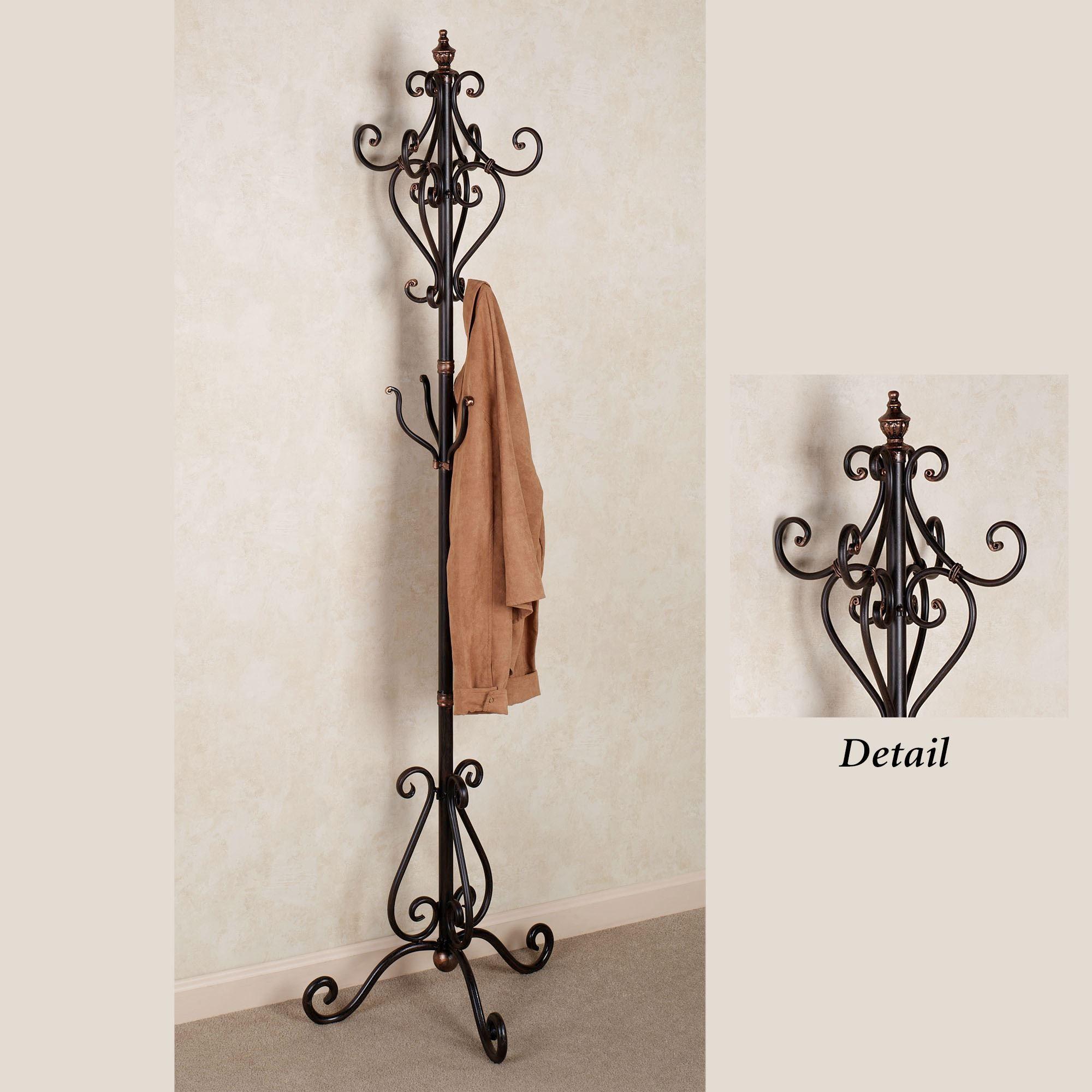 selena metal coat rack stand