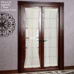 Reverie Snow Voile Semi Sheer Door Panel