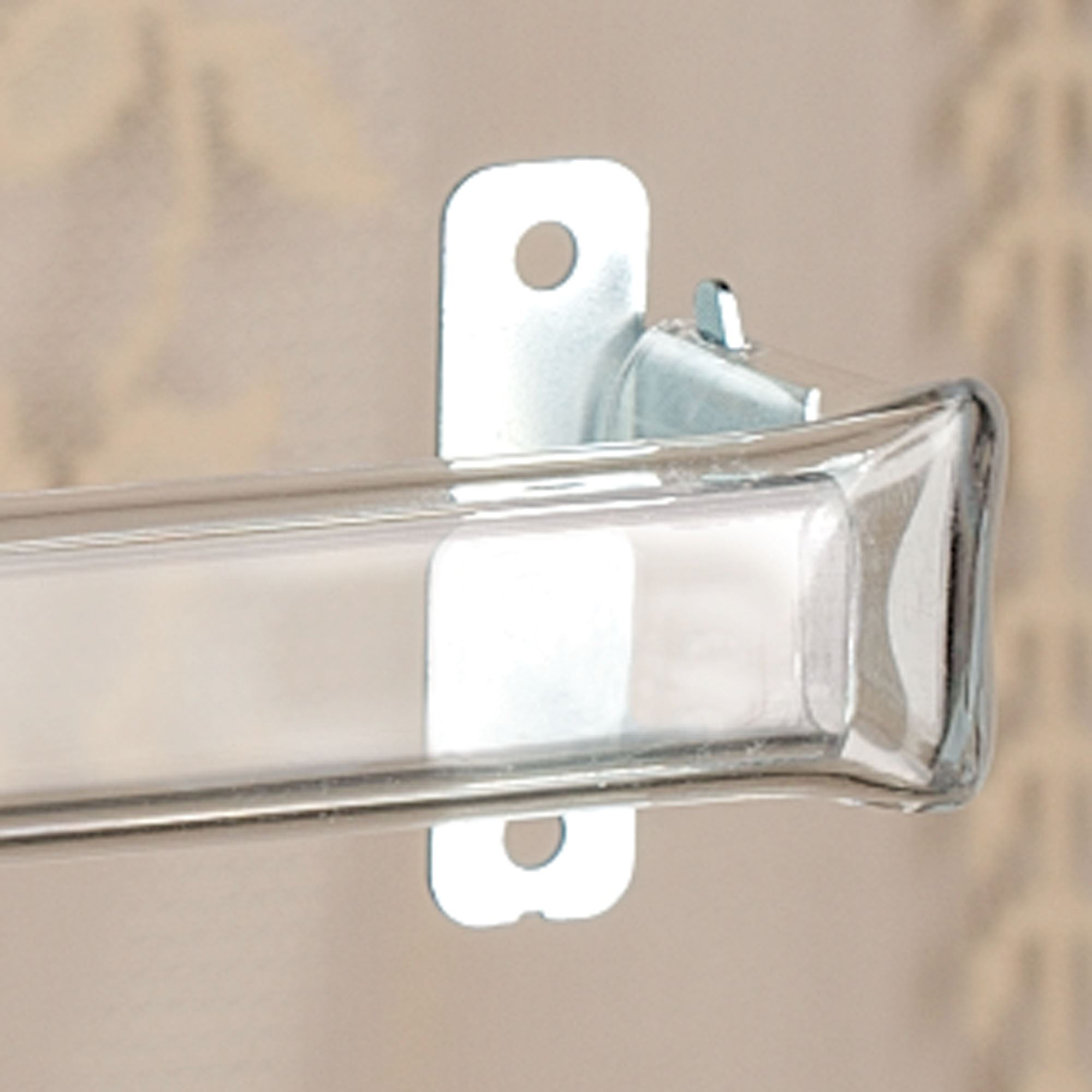 clear curtain rod for laces and sheers