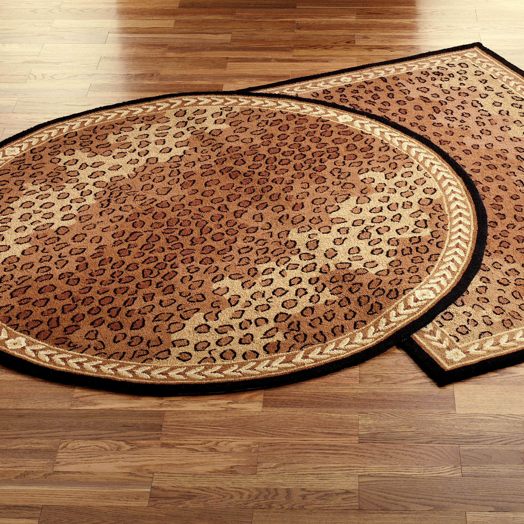 Leopard African Round Rugs