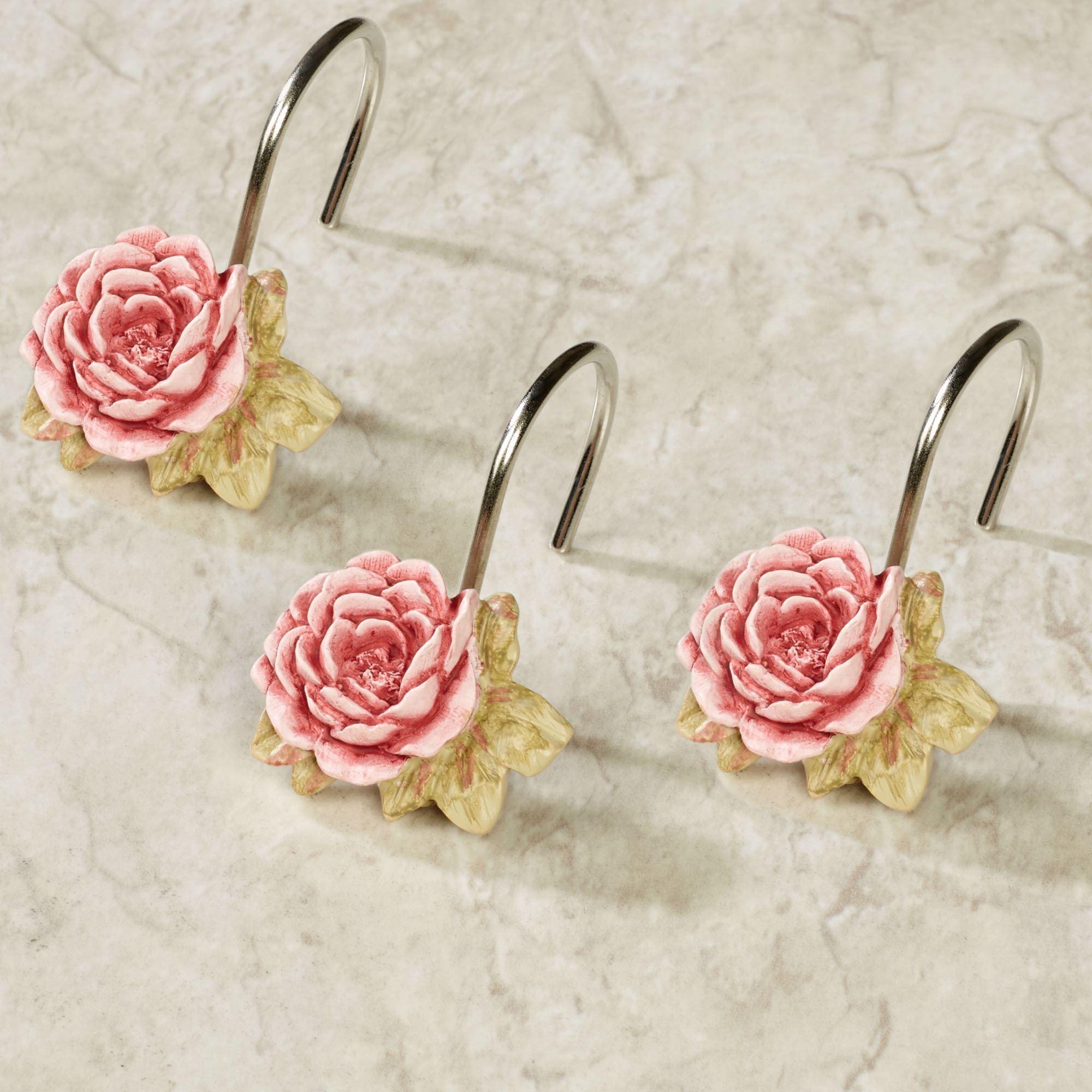 spring rose shower hook set
