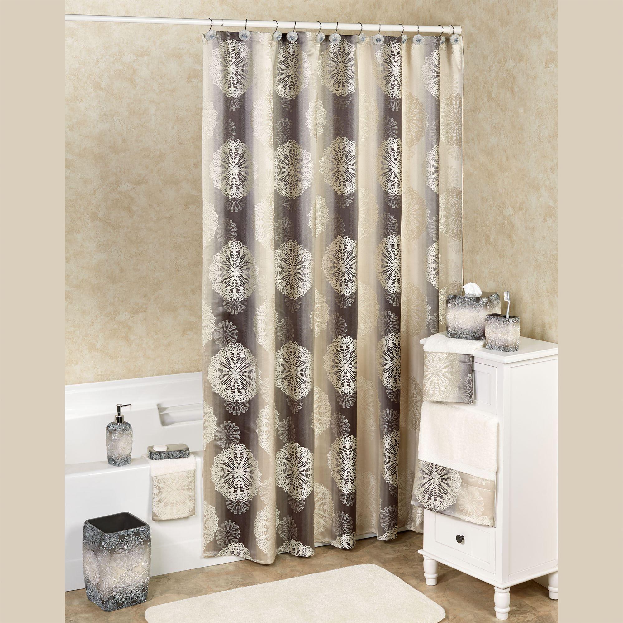 fallon ombre medallion shower curtain