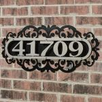 Touch Of Class Metal Laroyal Vertical House Number Plaque Silver Black Four To Five Numbers Address Signs