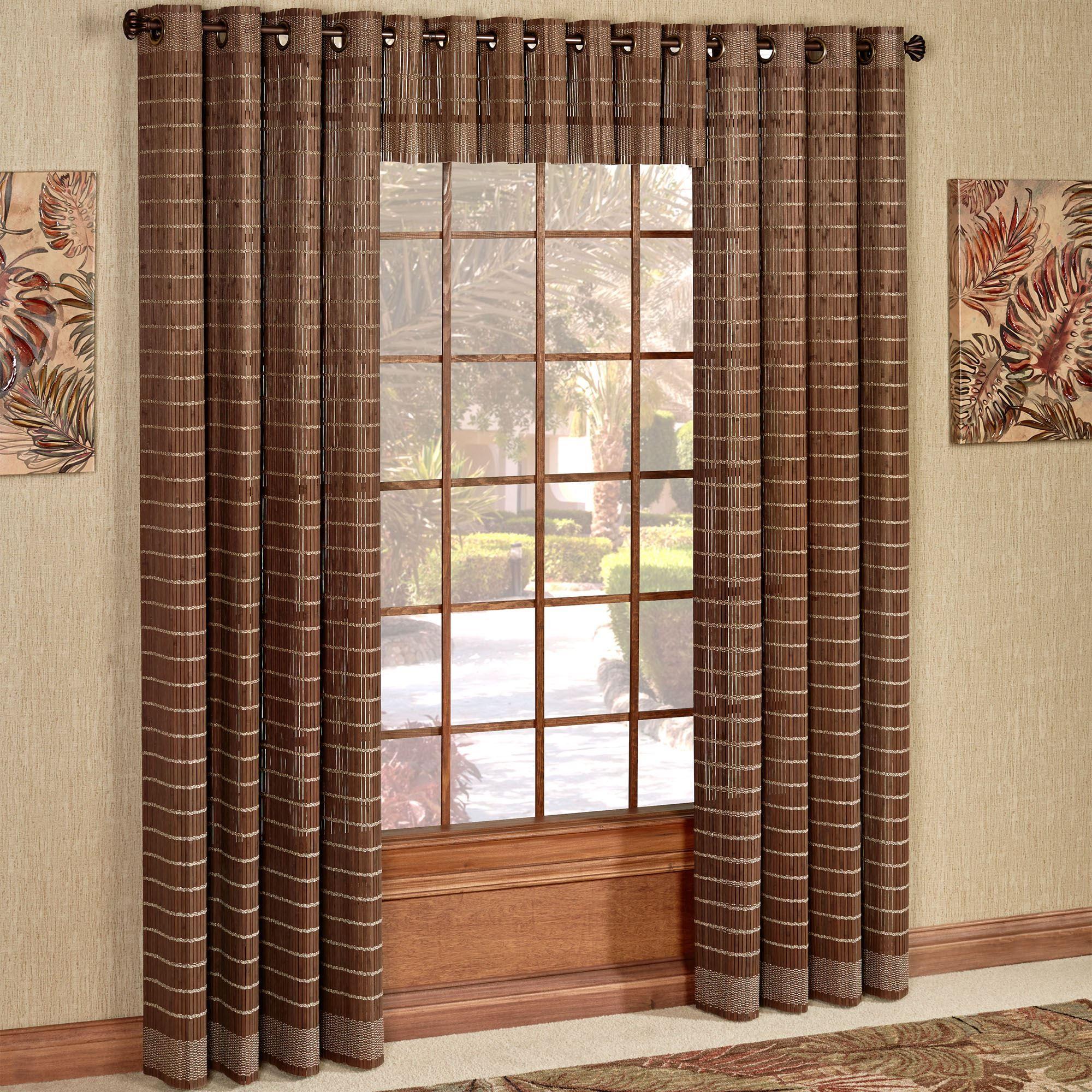 bamboo grommet window panel or valance