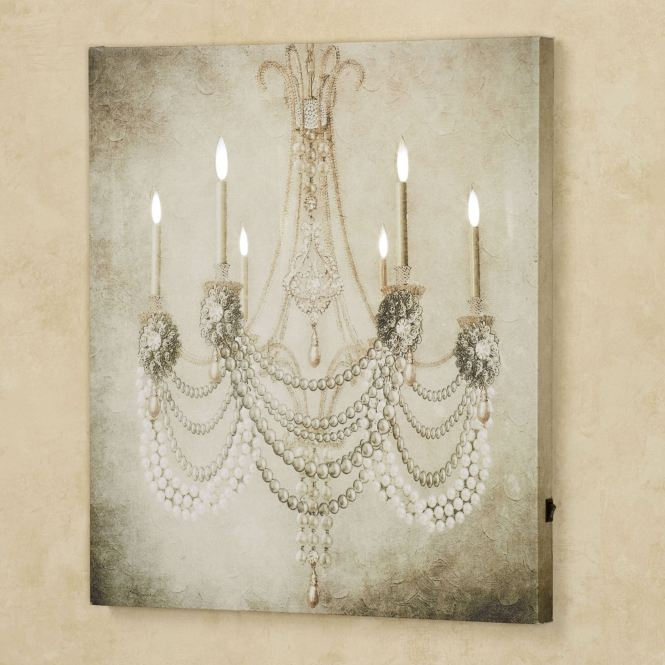 Vintage Chandelier Led Canvas Wall Art Oyster Click To Expand
