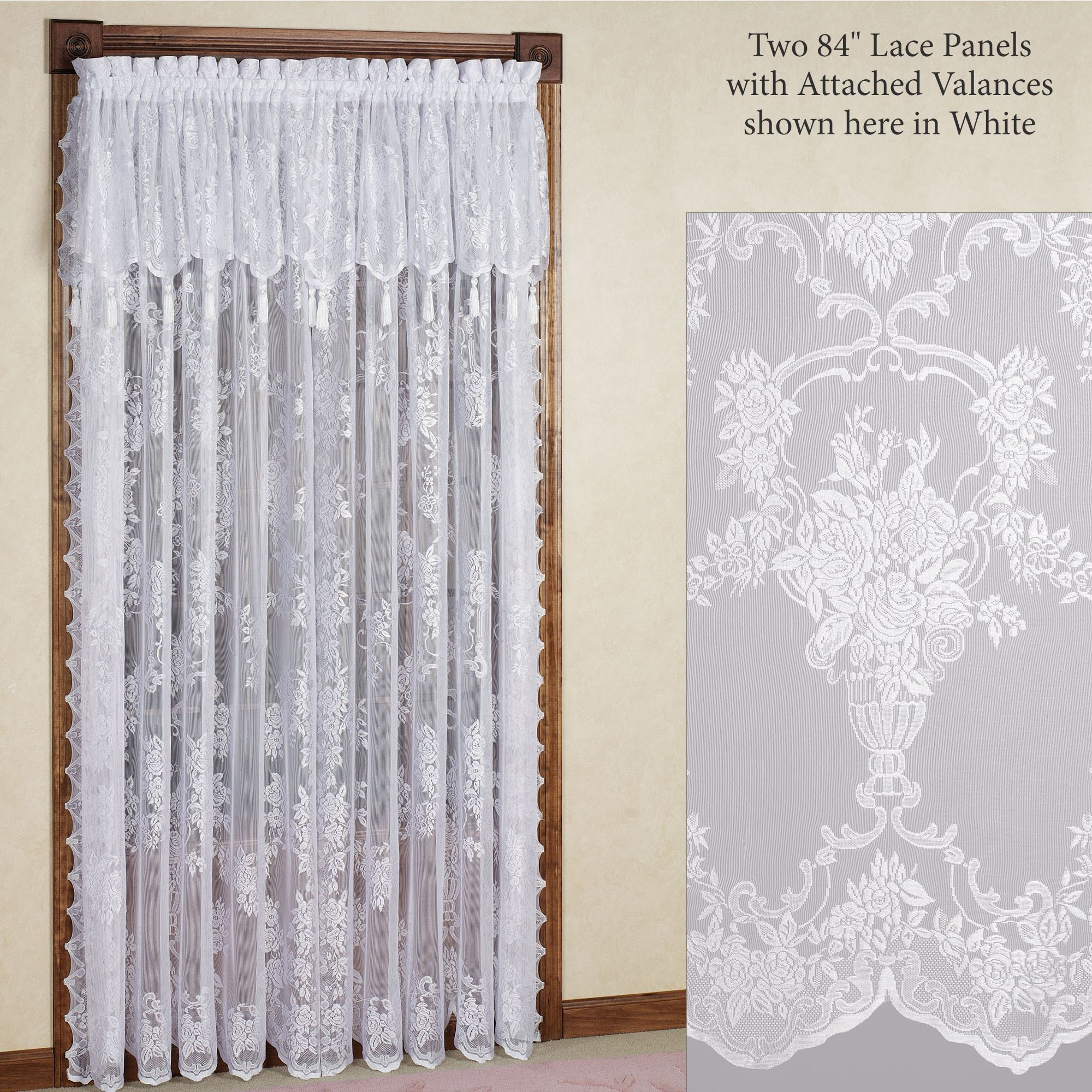 Lace Curtains With Attached Valance