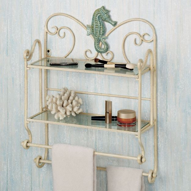 sea breeze bath wall shelf organizer