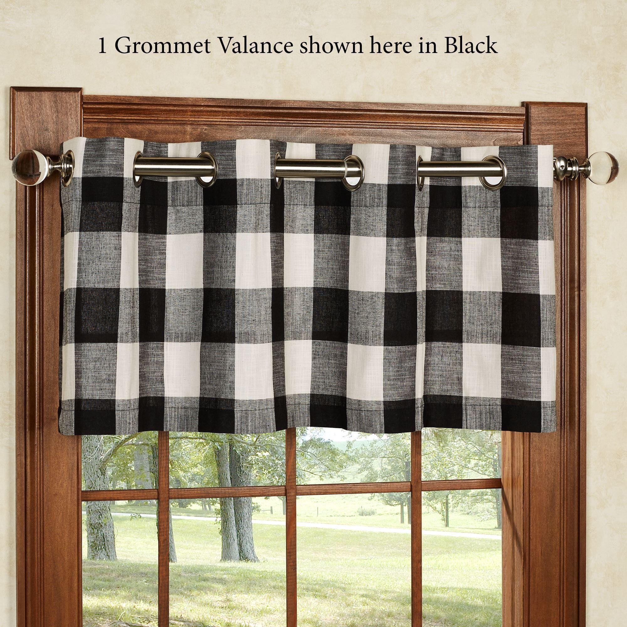 checkerboard grommet window treatment