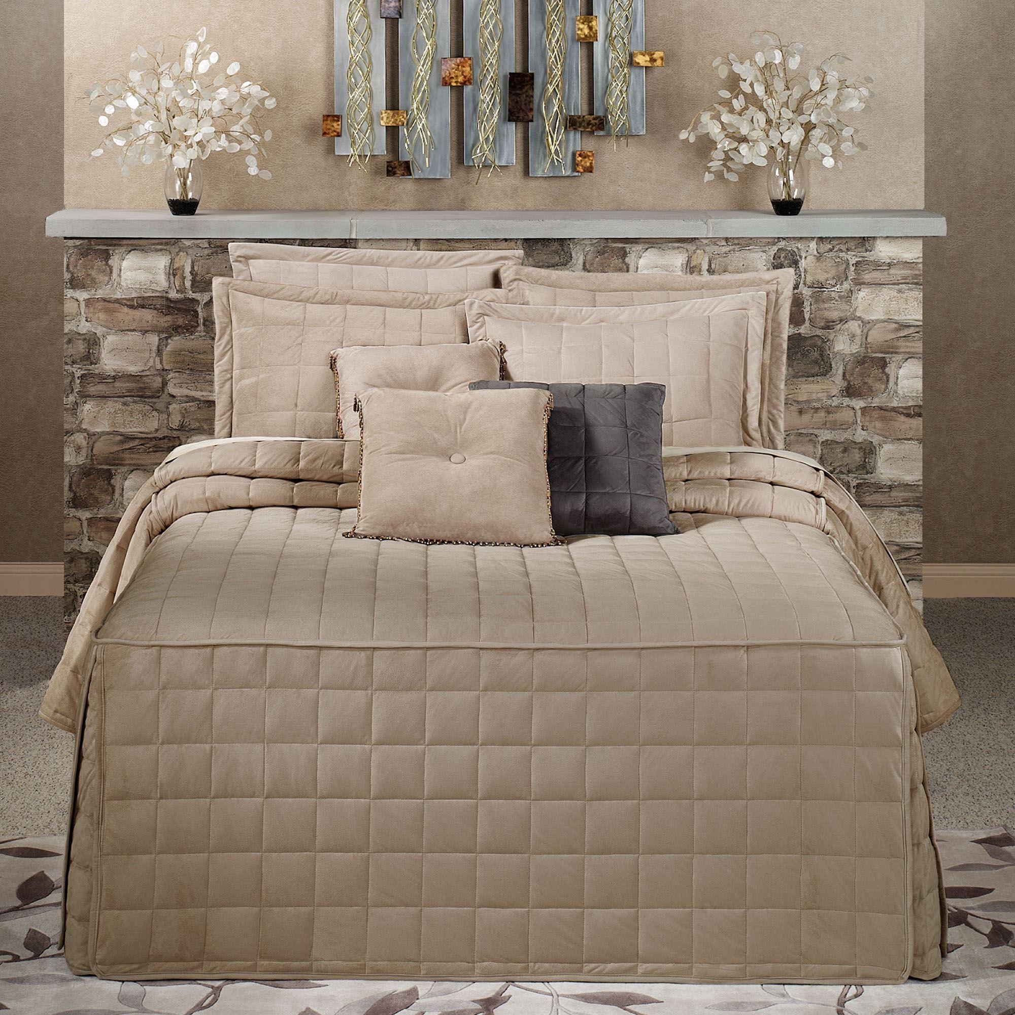 Camden Sand Grande Oversized Fitted Bedspread Bedding
