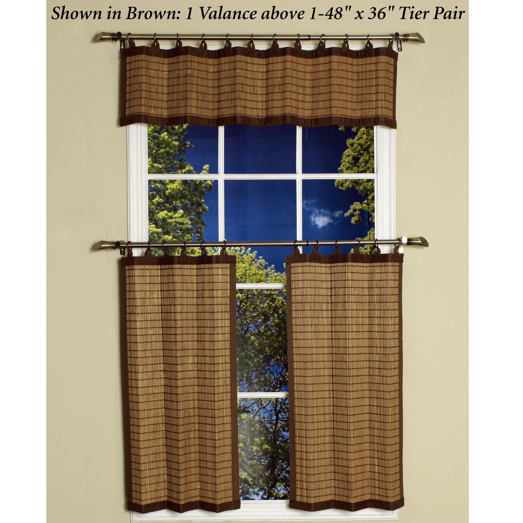 Bamboo Ring Top Tier Window Treatment