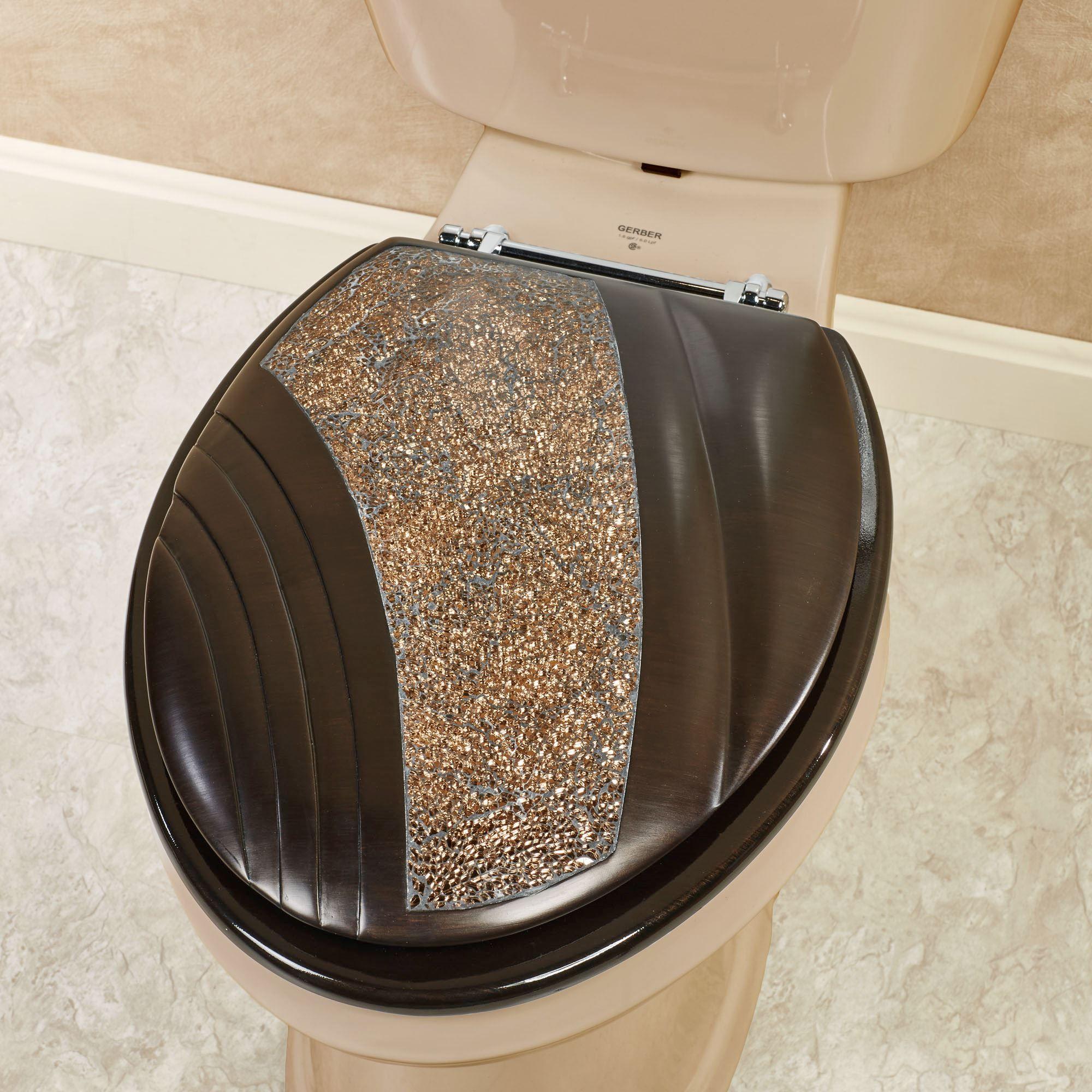 Grandeur Mosaic Bronze Elongated Toilet Seat