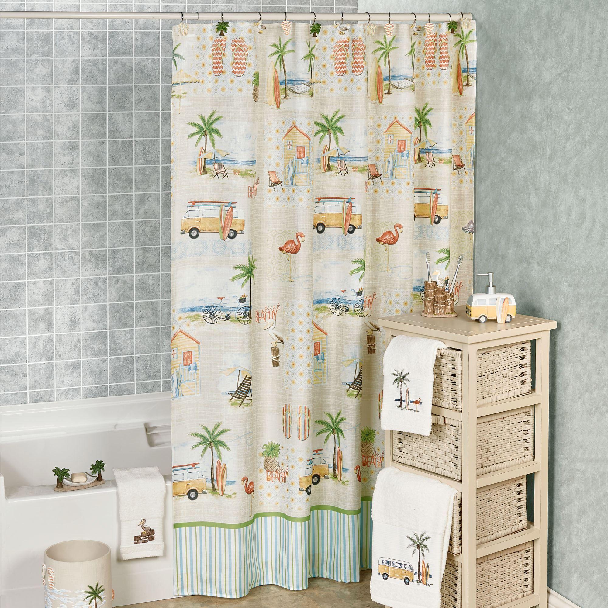 Shower Curtain Beach Theme Home The Honoroak
