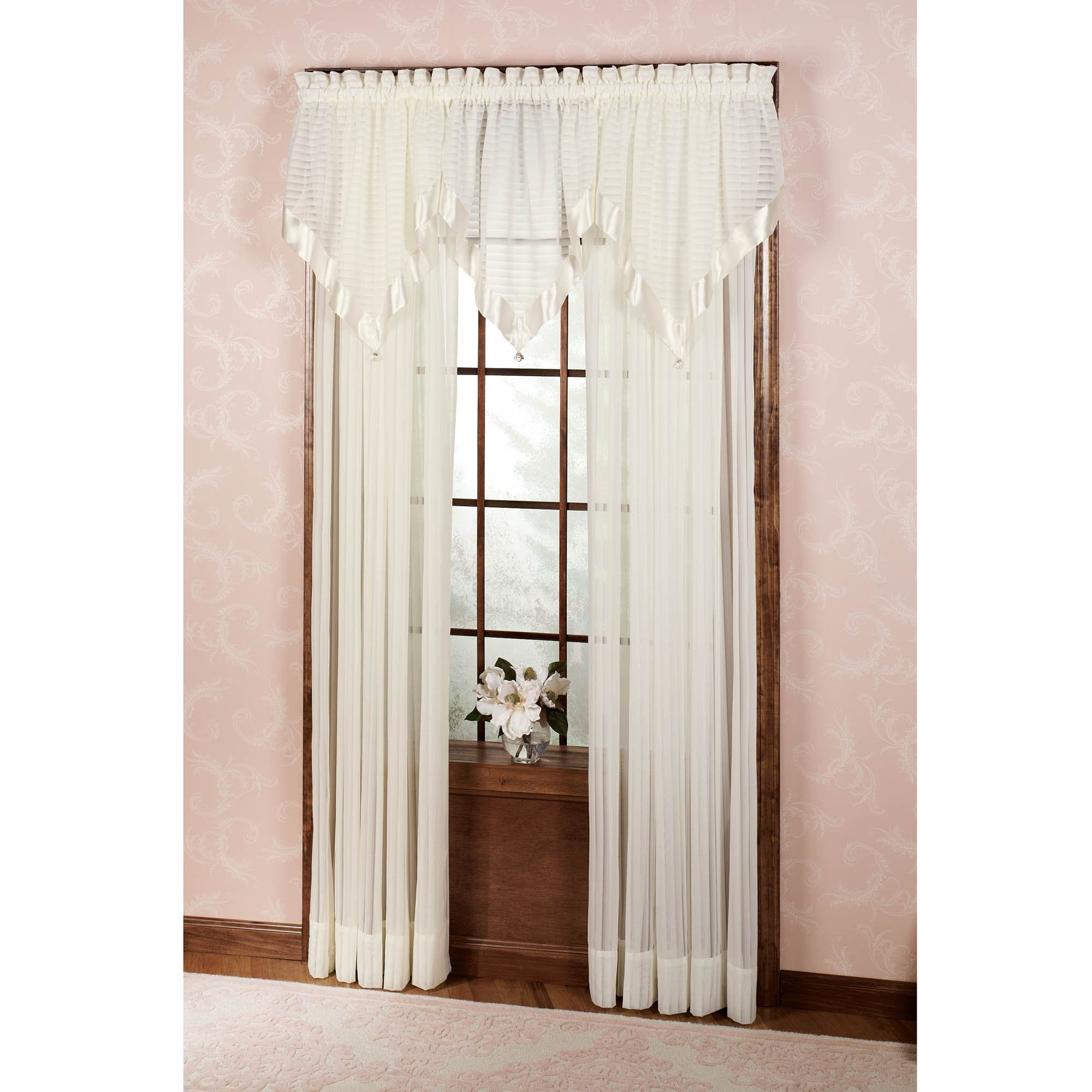 Nimbus Stripe Ascot Valances And Window Treatments