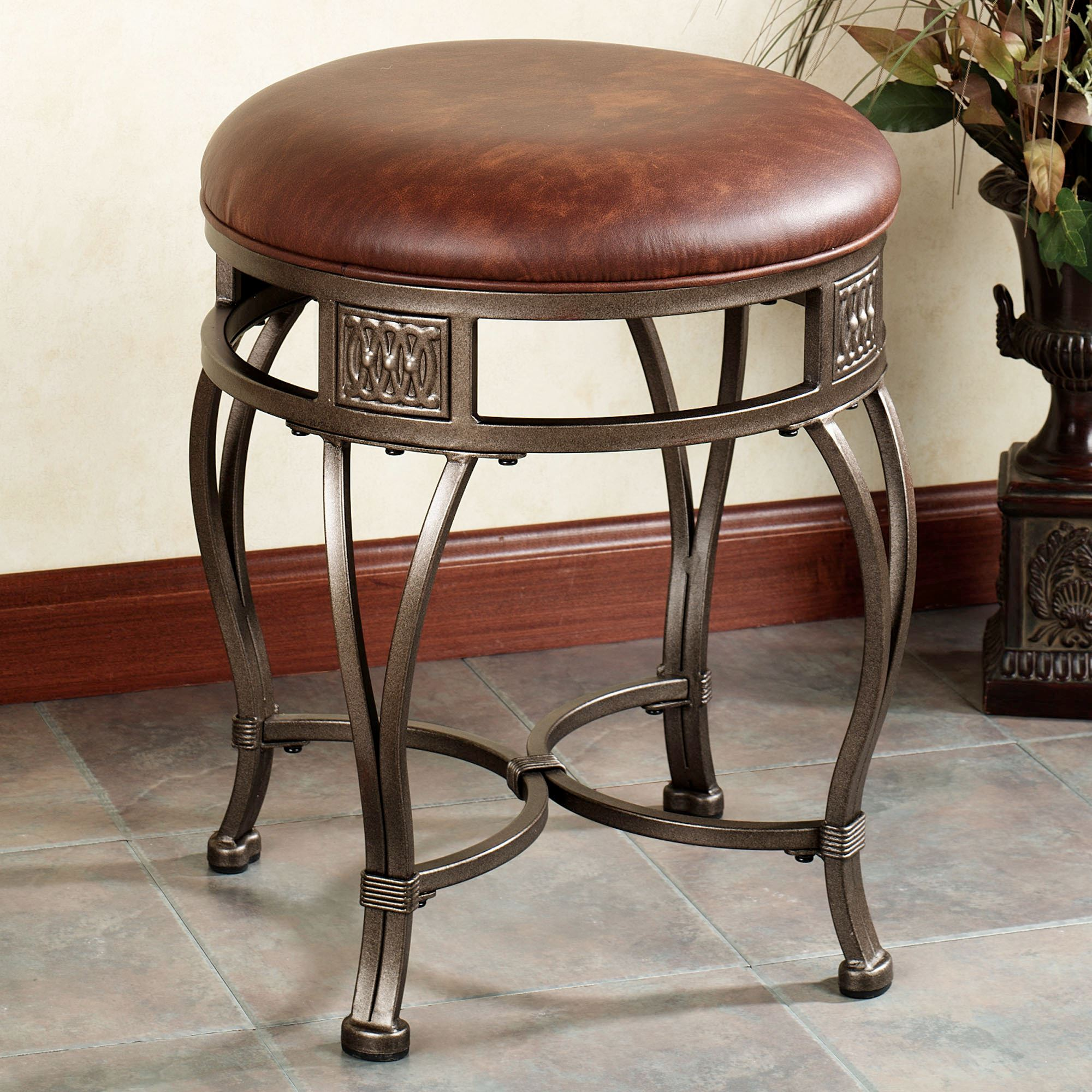mitchell backless vanity stool