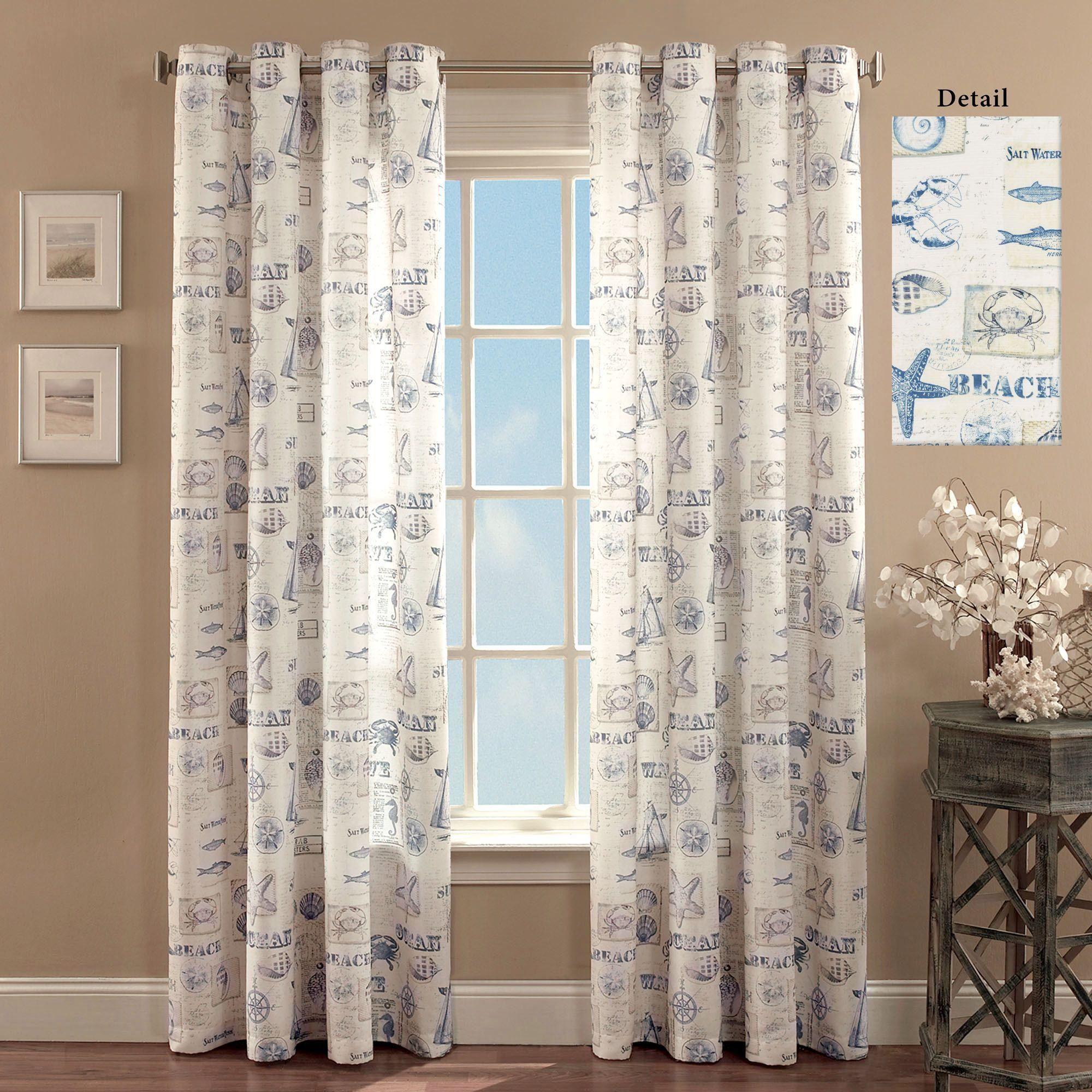 by the seaside coastal grommet curtain panel