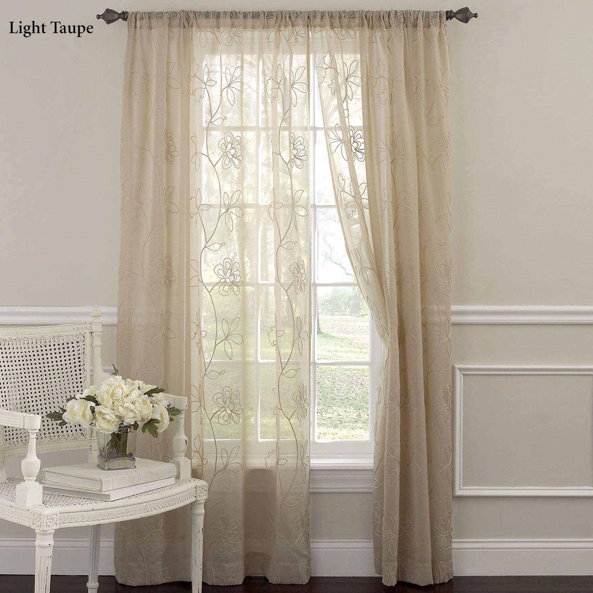 laura ashley frosting embroidered sheer curtain panel