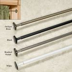 Spring Mount Mini Tension Curtain Rod 15 To 54