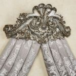 Alexandrine Aged Silver Wall Teester Bed Crown