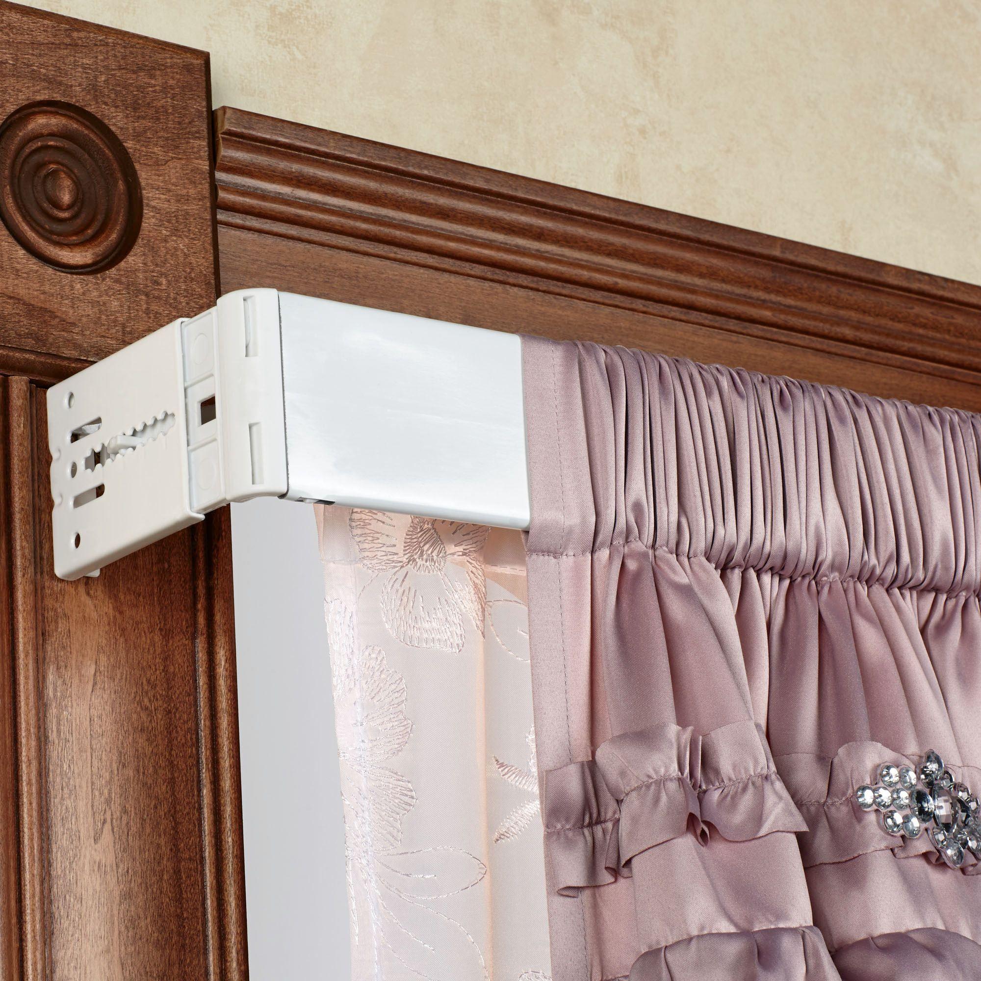 utility double curtain rod set