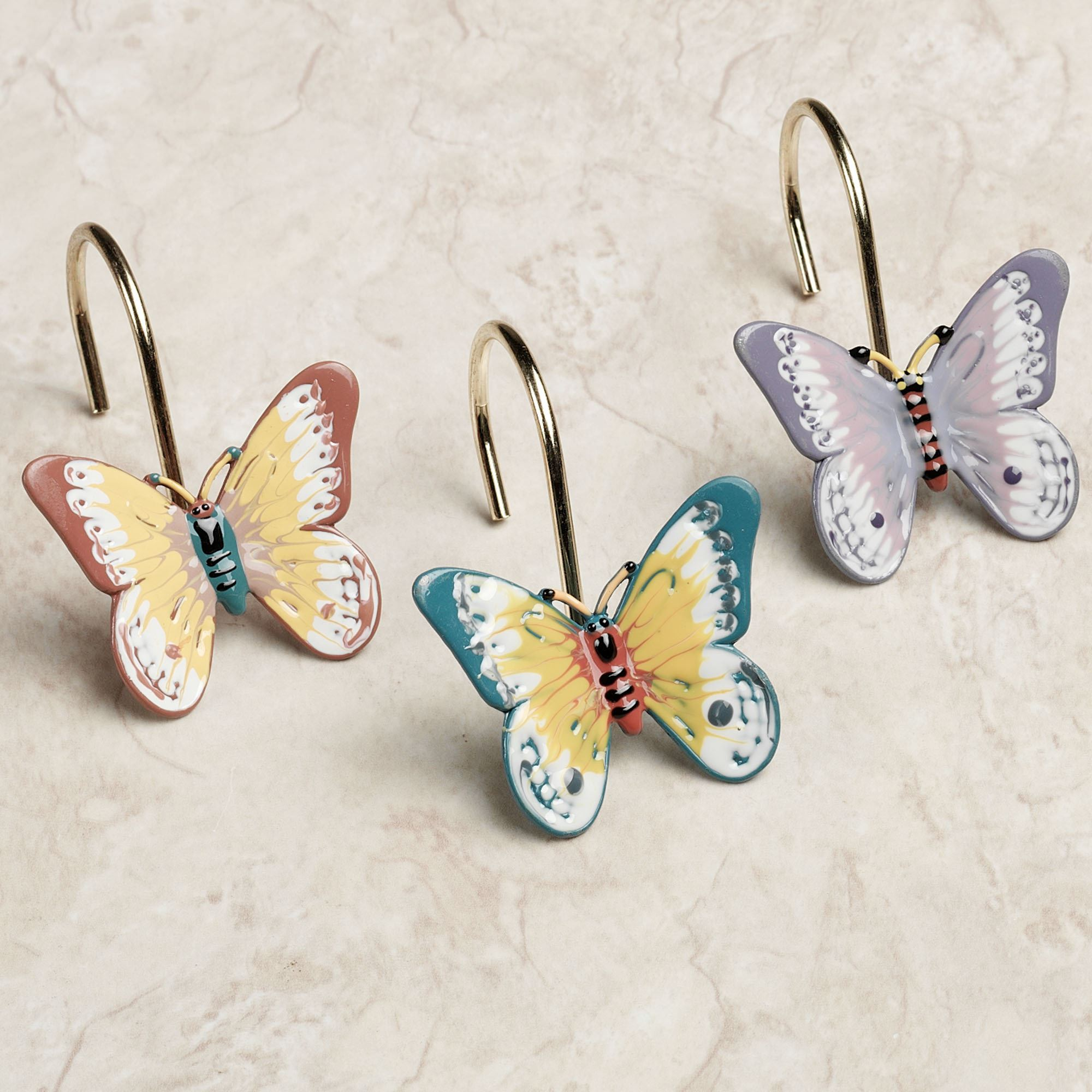 Lenox Butterfly Meadow Shower Curtain Hooks