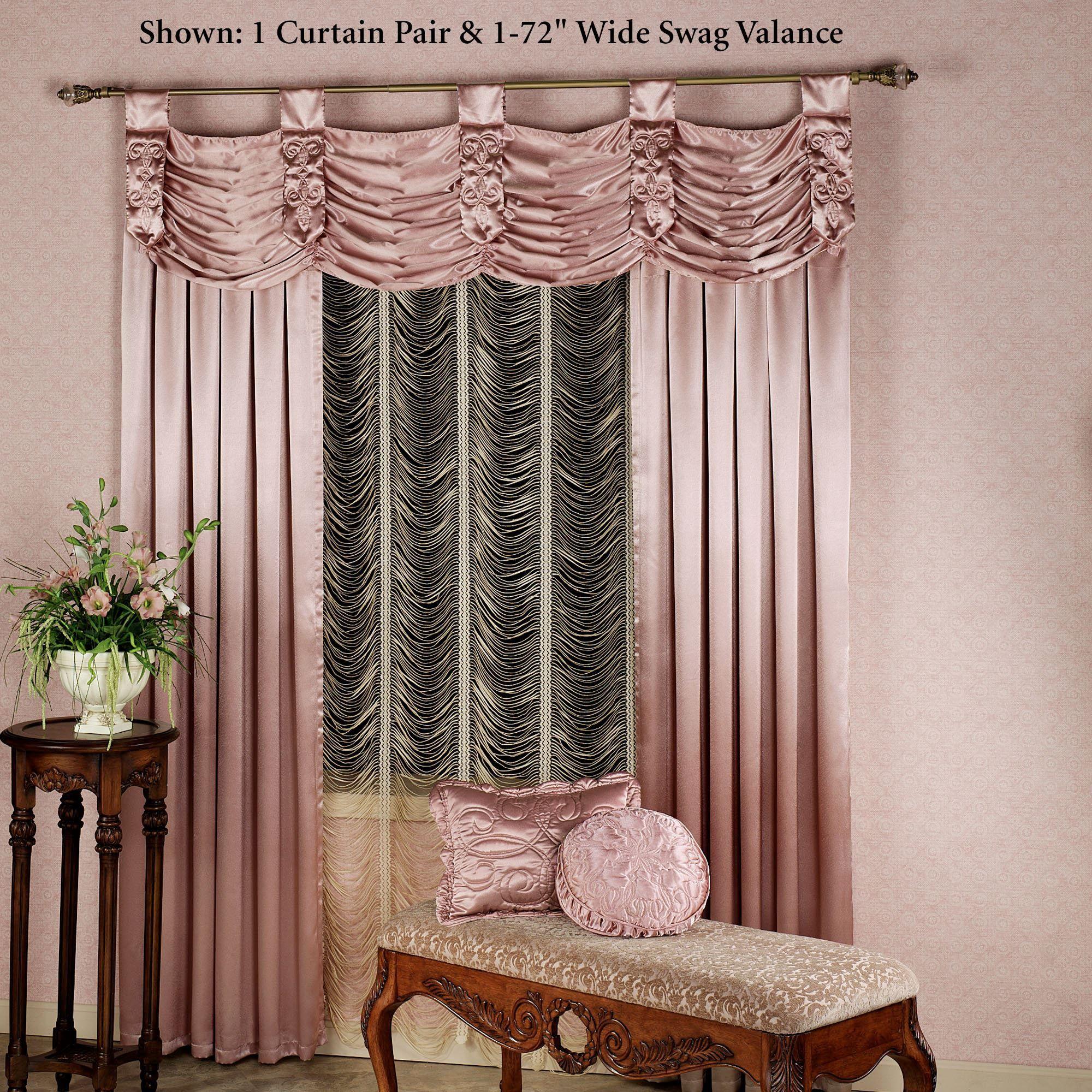 Paris Crepe Satin Curtains