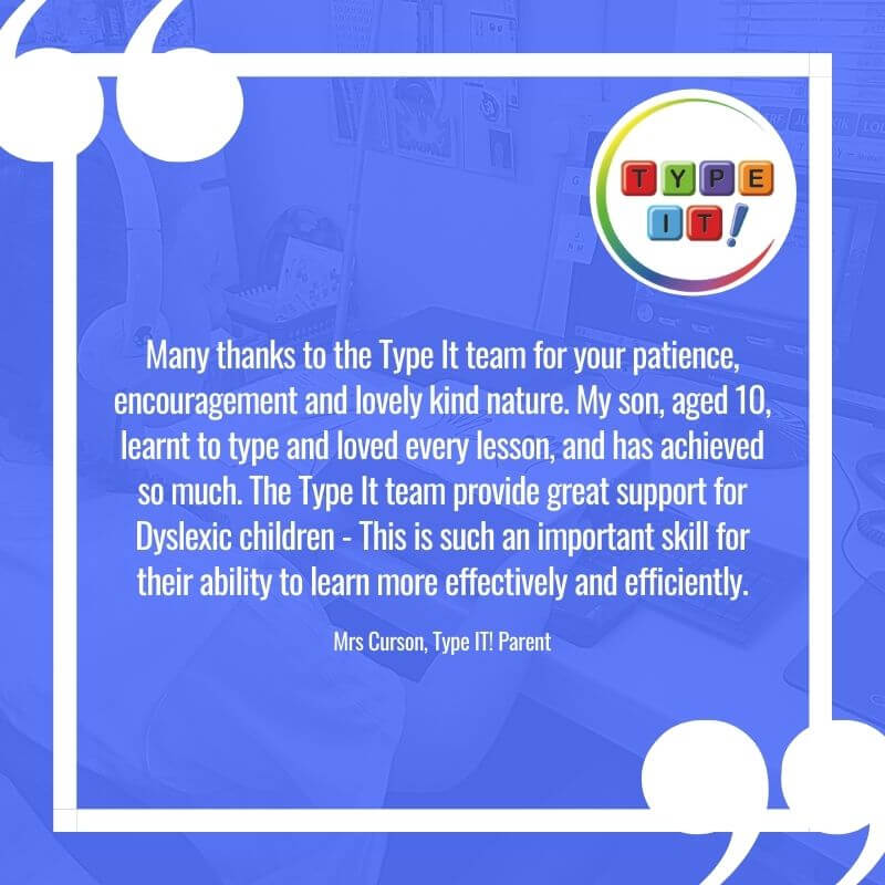 Touch Typing and Dyslexia quote