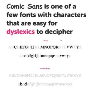 Fonts to help dyslexia