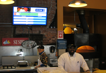 Digital comment board in a dining location