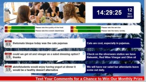 Digital comment board example