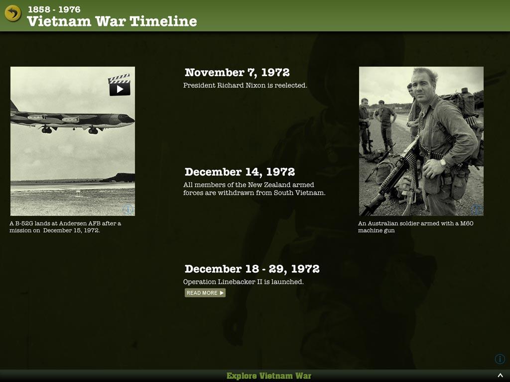 Vietnam War Interactive App For Ipad