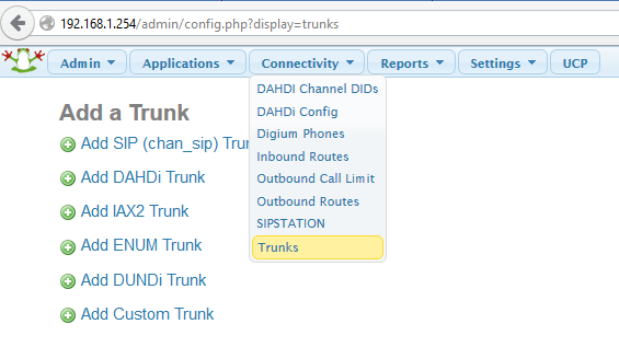 Connectivity-Trunks
