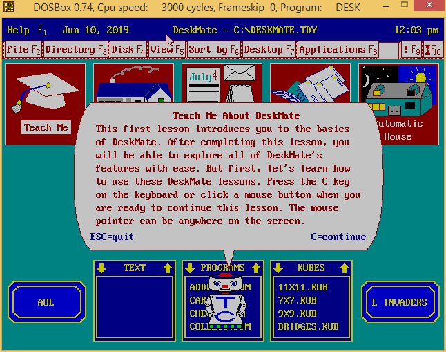 Exploring Tandy Deskmate on DOSBox v0 7 4   ToughDev