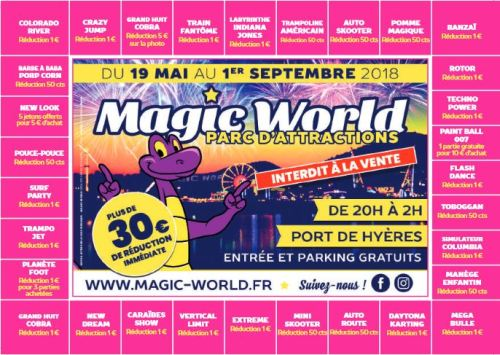 BON DE REDUCTION MAGIC WORLD 2018