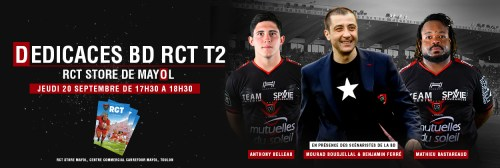 SEANCE DEDICACE RCT TOULON CENTRE COMMERCIAL MAYOL