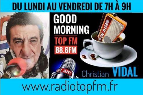 CHRISTIAN VIDAL RADIO TOP FM BANDOL 88.6 FM