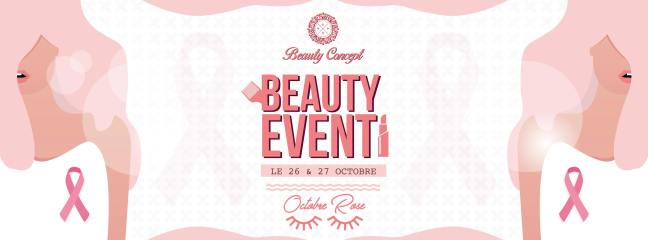Beauty event Octobre rose par Beauty Concept