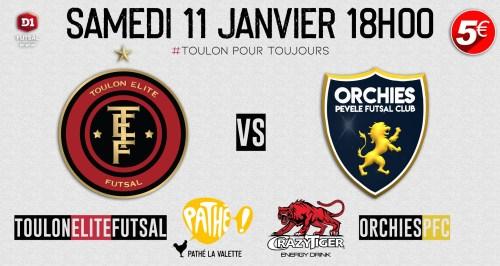 Toulon Elite Futsal rencontre Orchies PFC