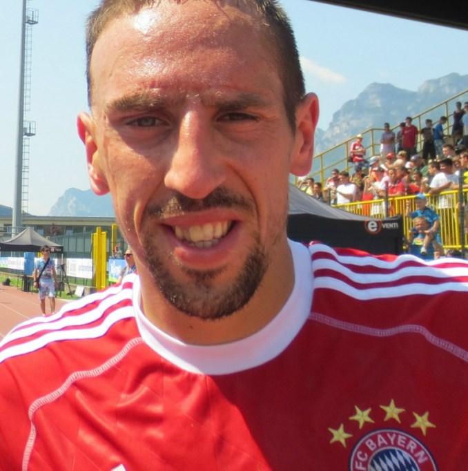 Franck Ribéry avec le Bayern Munich et Karim Benzema avec le Real Madrid seront les seuls joueurs Français a jouer le dernier carré de la ligue des champions 2014 Photo  Creative Commons Attribution-Share Alike 3.0/Christophe95