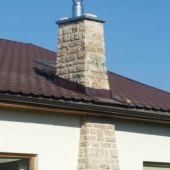 frézovanie vložkovanie komín na rodinnom dome