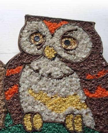 gravel art owls