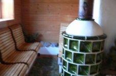 Sauna mit Ofen