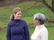Schauspielerin Ursula Buschhorn mit Dr. Vera Brosig