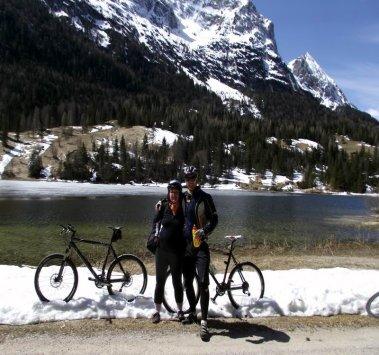 geschafft am Bergsee mit Guite
