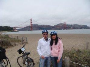 Fahrradtour entlang der Bucht von San Francisco
