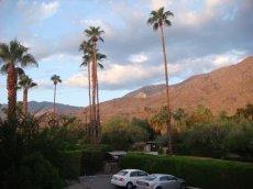 Hotelparkplatz in Royal Sun Inn / Palm Springs