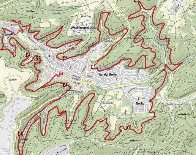 Karte Rodalber Felsenwanderweg